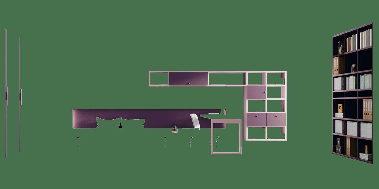 Combinación colores Pruna y Rosa Composición Nantes