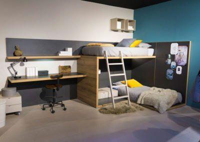 Dormitorio juvenil Cottage con dos camas