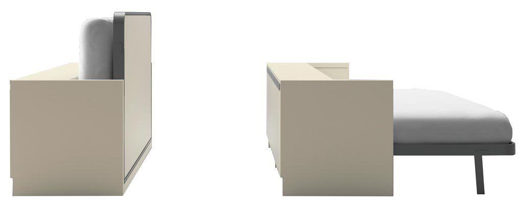 Cama abatible horizontal modelo Blink con arcón