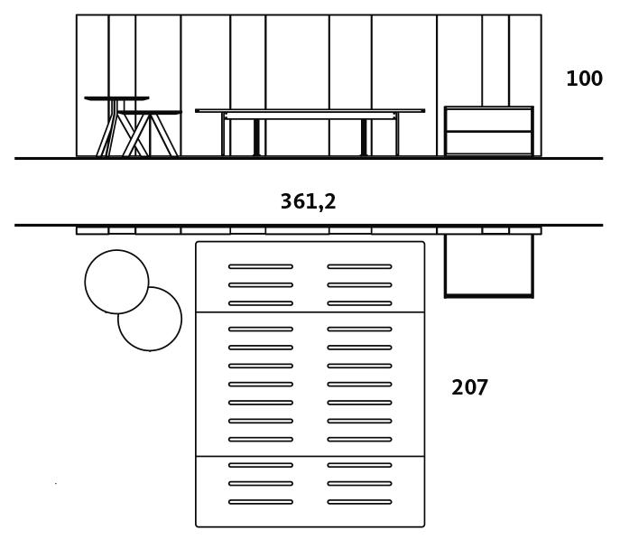Medidas exteriores del dormitorio con el cabecero AX