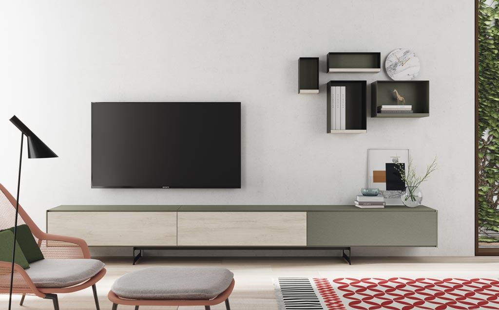 Composición de salón minimalista de la colección Addliving+Lifebox