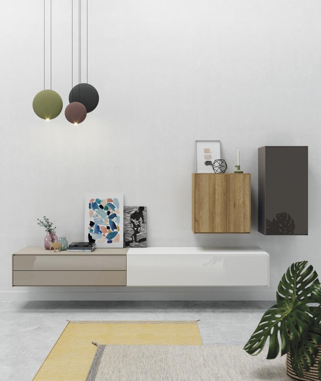 Fotografía de la composición de salón colgada en la pared