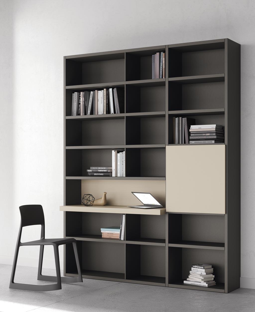 Fotografía de la estantería Addbox con escritorio incorporado