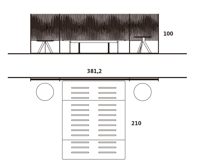 Medidas exteriores del dormitorio con el cabezal New Kandor
