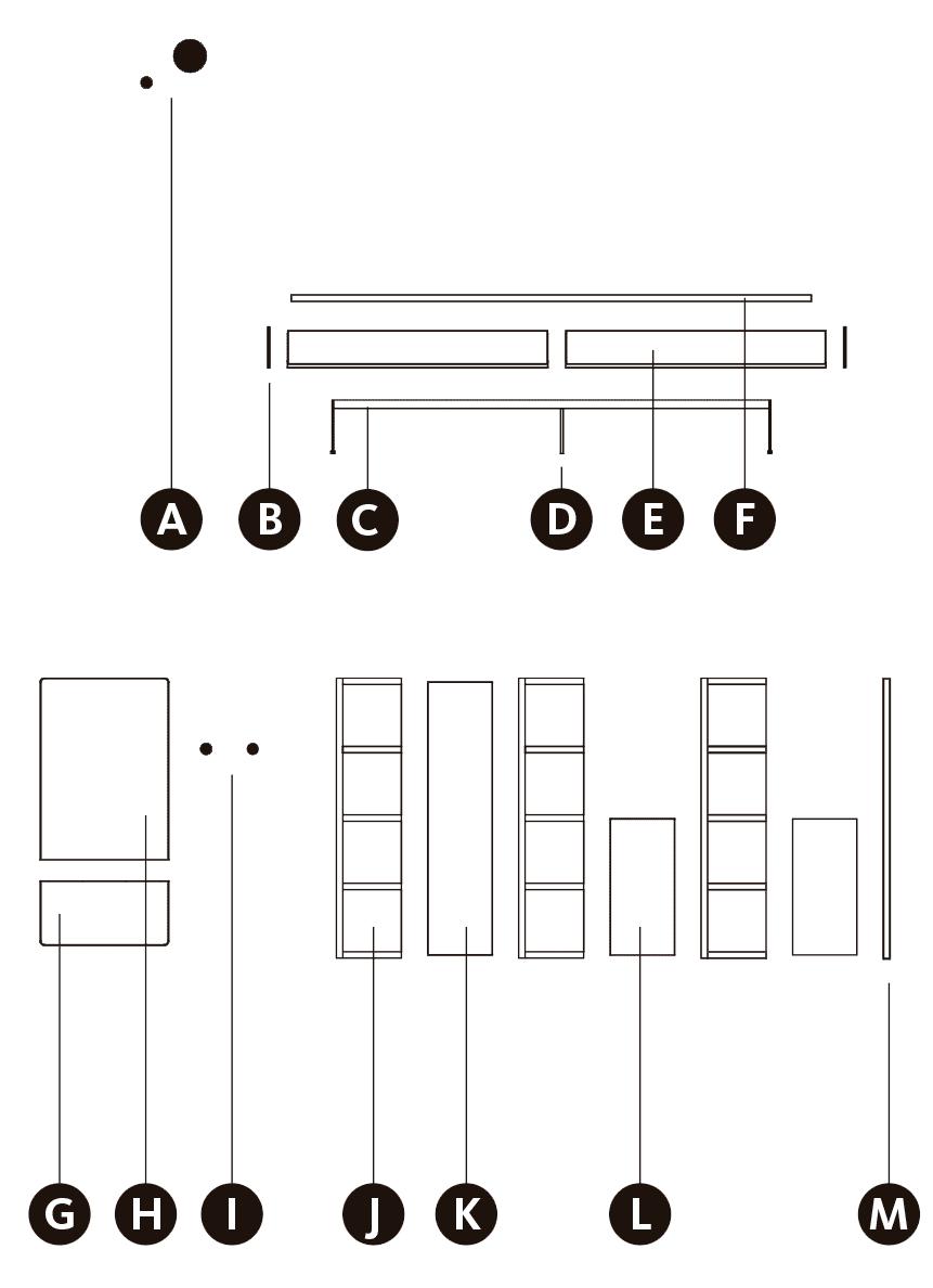 Desglose de los módulos de la composición de recibidor