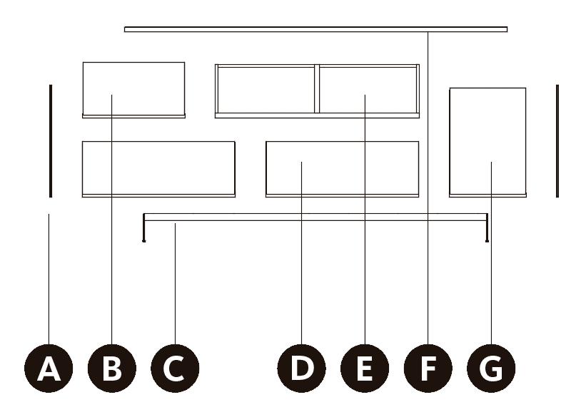 Medidas exteriores del aparador bajo con patas de metal