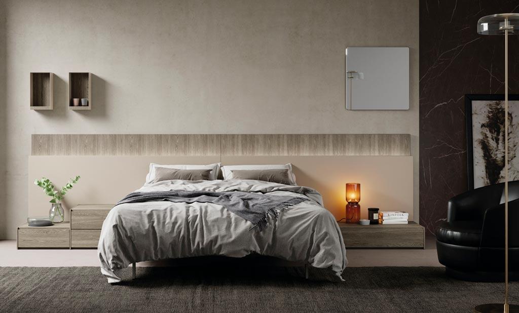 Dormitorio con el cabecero modelo Paralex e iluminacion Led