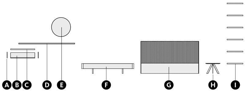Desglose y medidas del cabecero tapizado New Kandor
