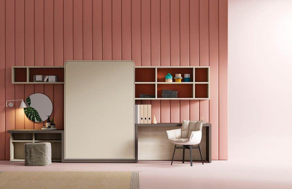 Composición de cama abatible Blink y estantería Airbox