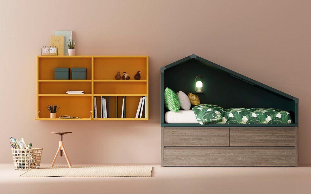 Ideas para amueblar habitaciones juveniles de pequeño tamaño