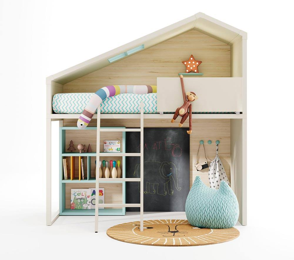 Cottage Modelo Cama cabaña