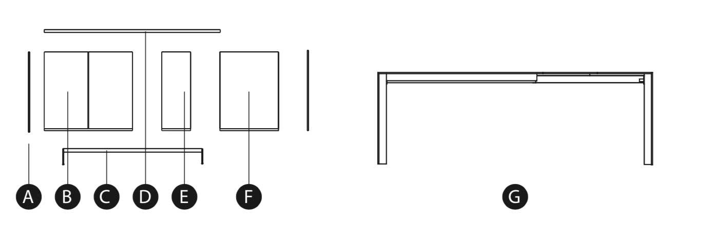 Ficha técnica mesa cocina Lagrama