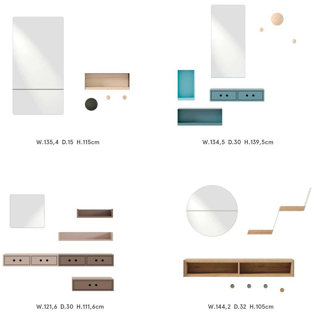 Diferentes opciones de recibidores modernos