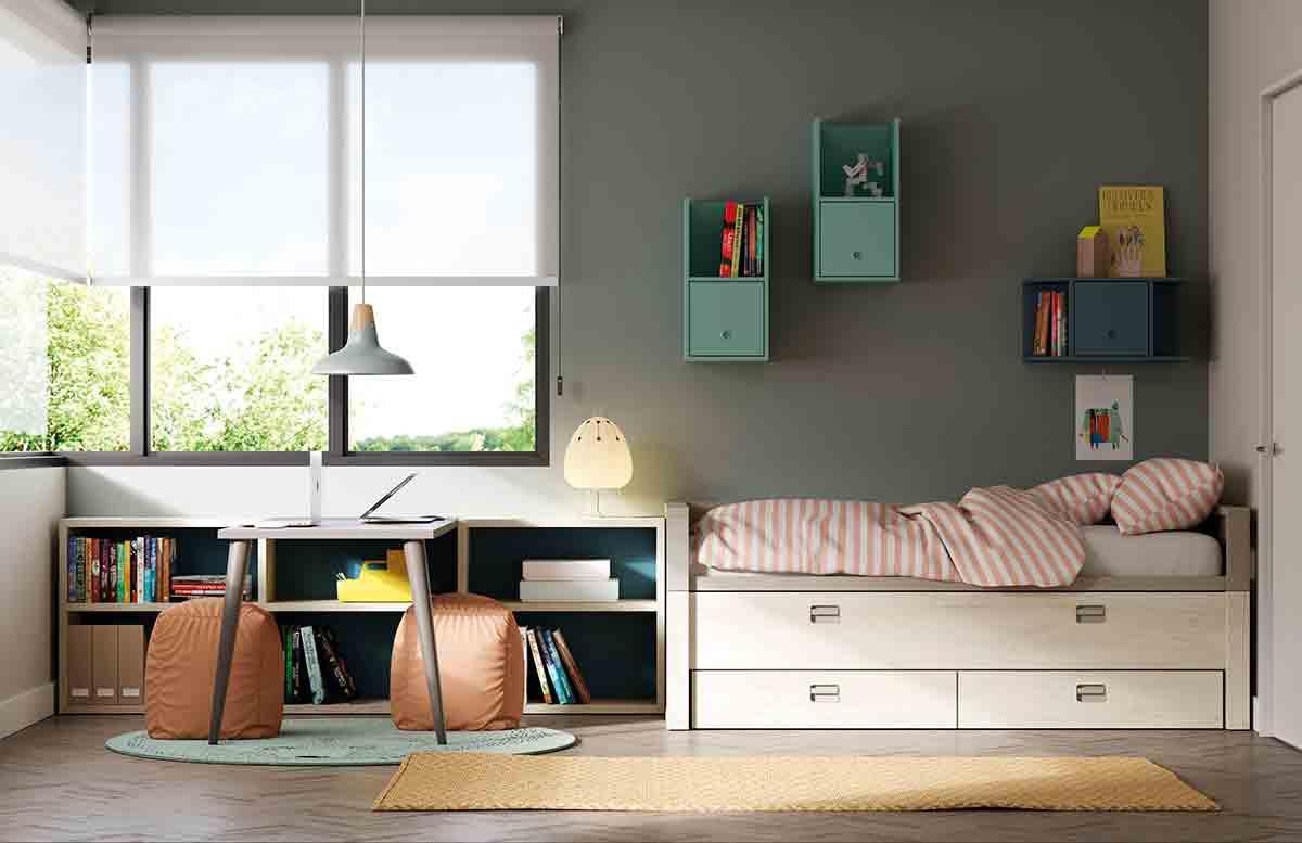 Dormitorios juveniles con un aire moderno y atrevido - Diseno habitaciones juveniles ...