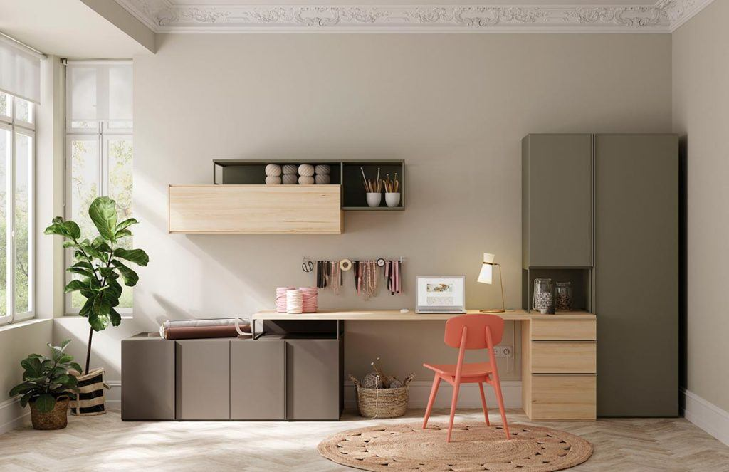 Oficina con sistema Dressbox y Addliving