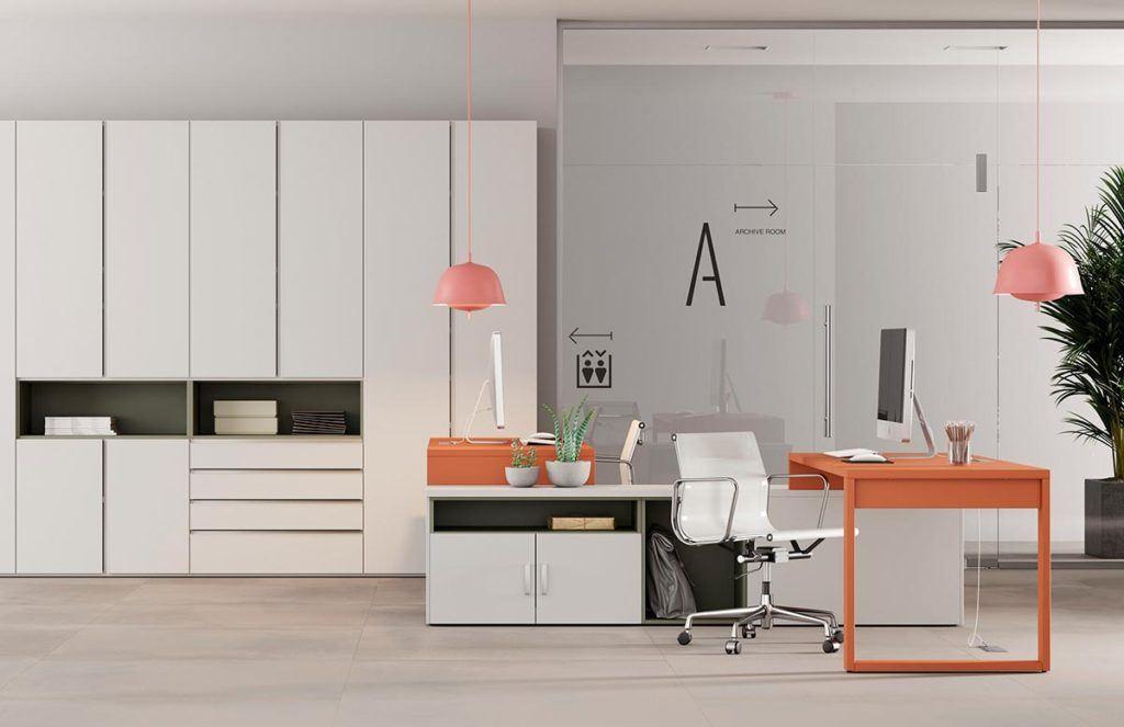 Oficina con sistema Dressbox y modulos bajos